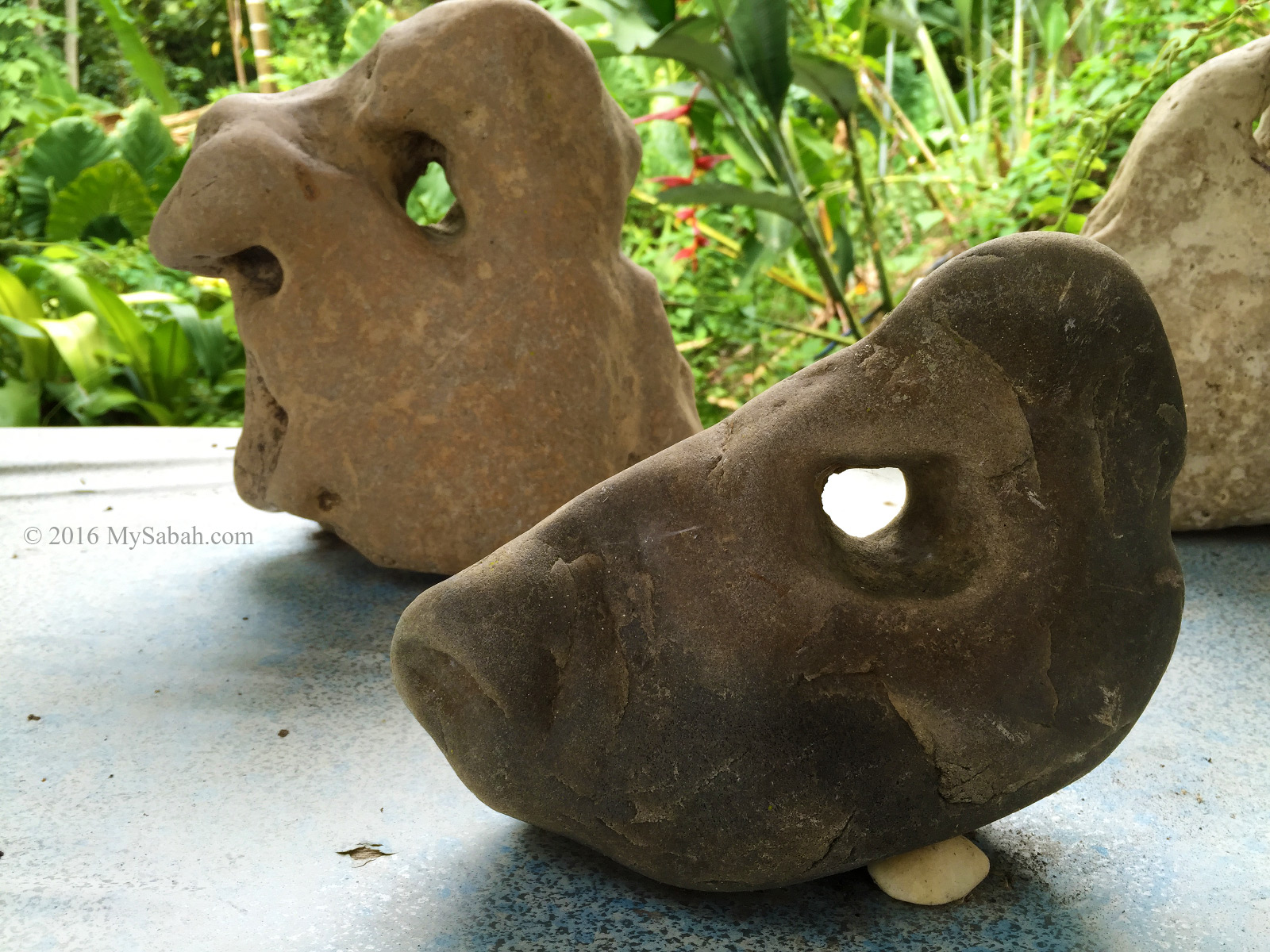 Rocks that looks like grumpy old man (back) and fish head (front)