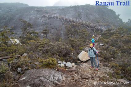 Ranau trail and peak
