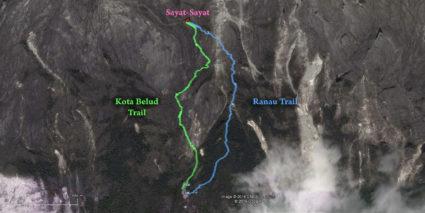 Map of Ranau and Kota Belud Trails