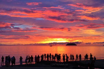 Fire cloud of Sabah sunset