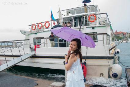Boarding to North Borneo Cruises