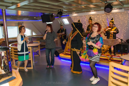 Guests enjoying the moment onboard