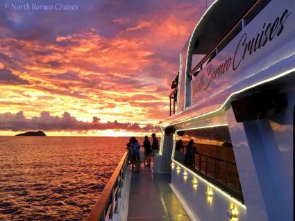 Beautiful sunset at Kota Kinabalu Marine Park