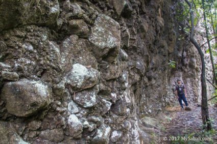 Rock wall outside Bat cave