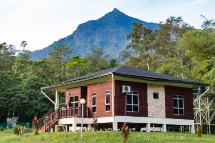 View of Mount Nombuyukong behind the chalet in Serinsim park