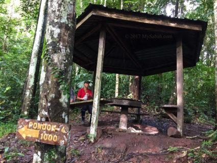 Gazebo No.3: Pondok Gaharu, 1,000 Meters to gazebo No.4