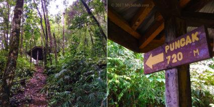 Gazebo No.6: Pondok Wasai, 720 Meters to the peak