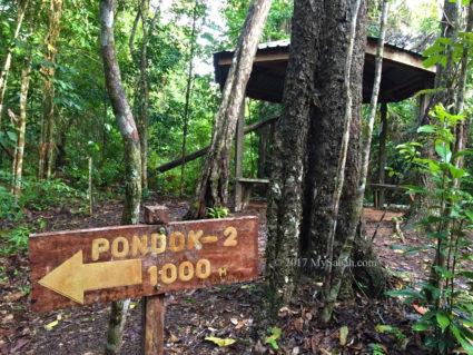 Gazebo No.1: Pondok Damar, 1,000 Meters to Gazebo No.2. (Pondok = Gazebo)