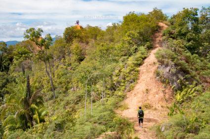 Start of the ridge of Bukit Lugas