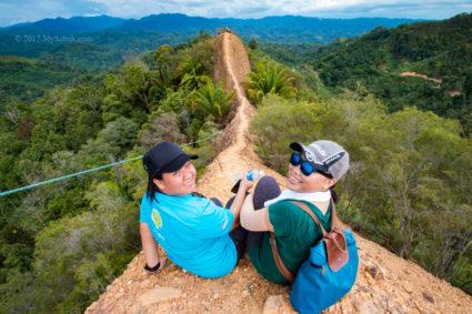 Enjoying the view on Bukit Lugas