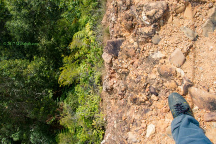 deep drop at the sides
