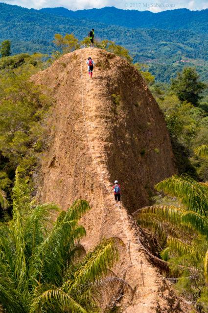 Approaching the peak of Bukit Lugas