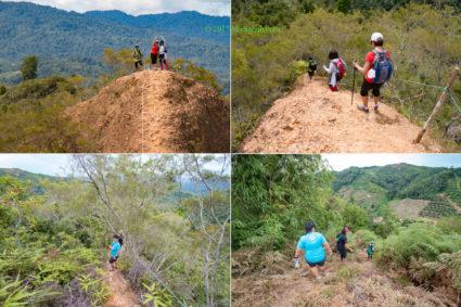 Descending from Bukit Lugas