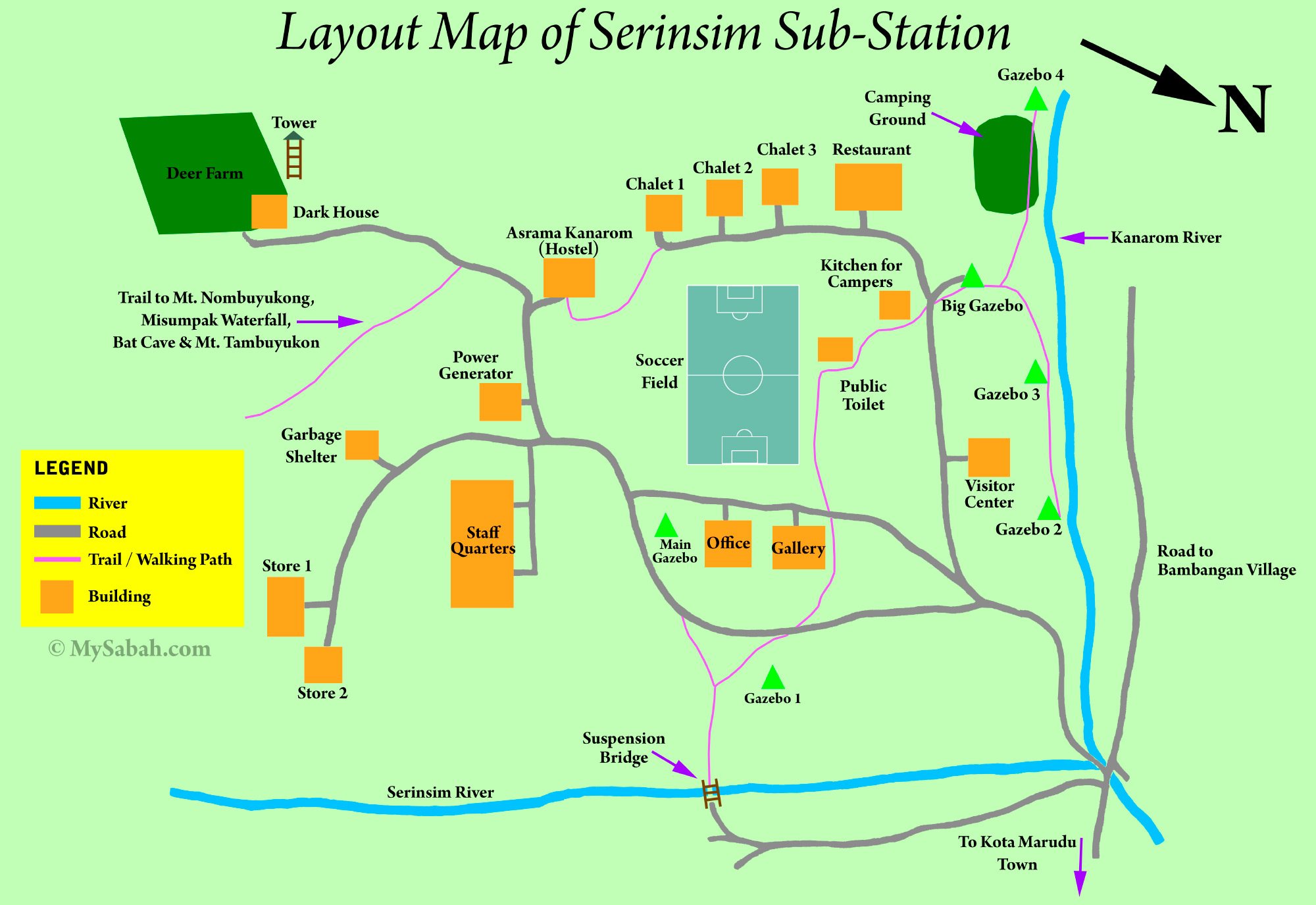 Serinsim A Different Face Of Kinabalu Park Substation Rooms Layout Diagram Map
