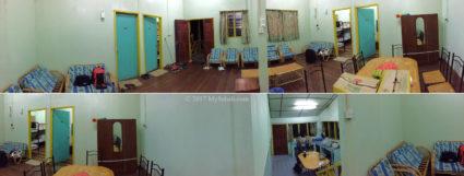 Interior of Asrama Kanarom Hostel in Serinsim