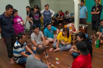 Gaming in the hostel (Asrama Kanarom)