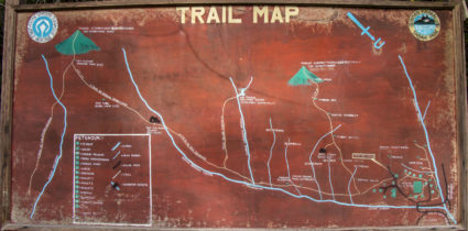Trail map to different attractions in Serinsim