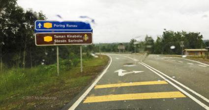 Asphalt road to Serinsim in Kota Marudu