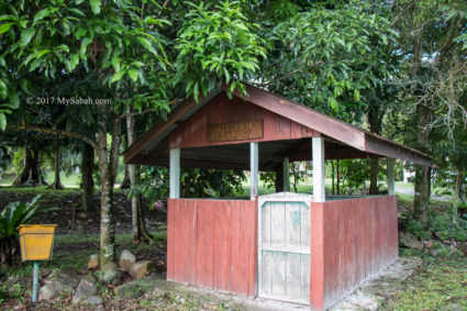 Kitchen near camping ground