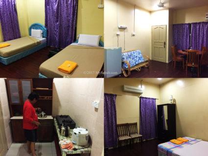 Bedroom, living room and kitchen of Serinsim Chalet