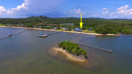 Malubang Village, the Malubang Homestay is under the yellow pointer