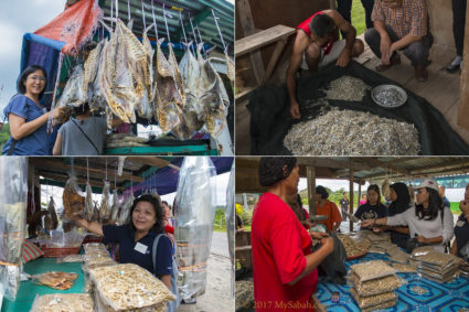 Shopping for dried seafood (e.g. dried shrimps, salty fishes) in Pitas