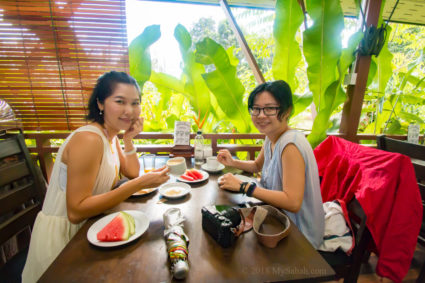 Breakfast at Mango Garden Cafe of Nature Lodge Sepilok