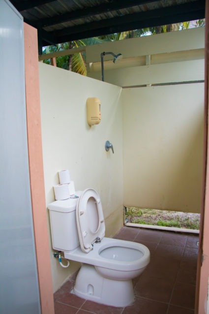 Toilet and shower room on the island