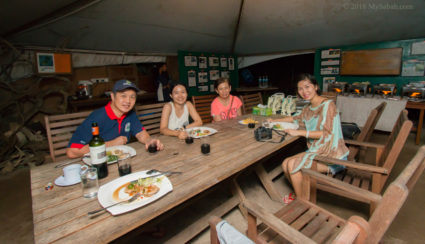 Dinner on Libaran Island