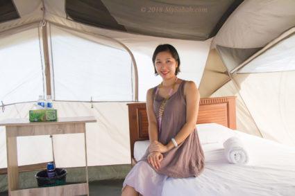 Glamping tent of Walai Penyu Libaran