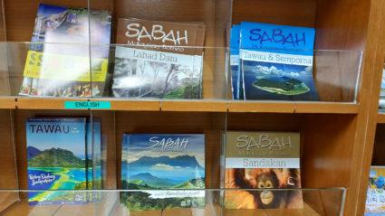 Brochure rack in Sabah Tourism building