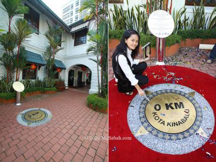 0 KM plaque of Sabah Tourism Building