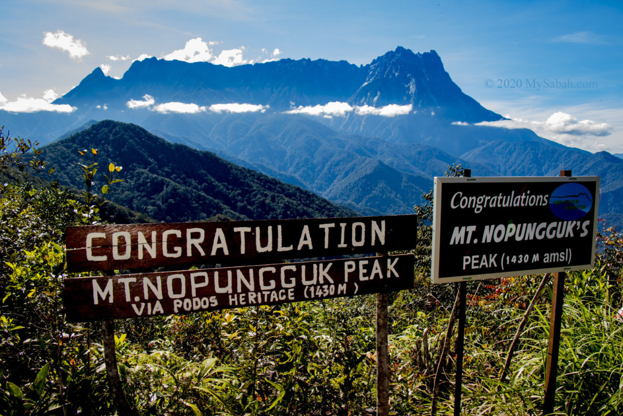View of Mount Kinabalu on Gunung Nopungguk