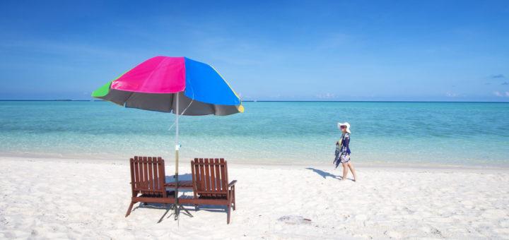 White sandy beach of Timba-Timba Island