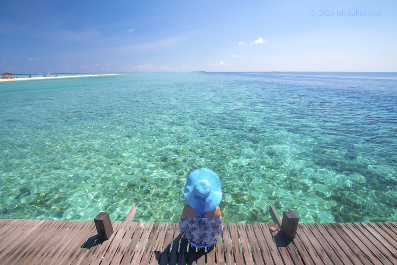 Looking at the sea on Timba-Timba Island