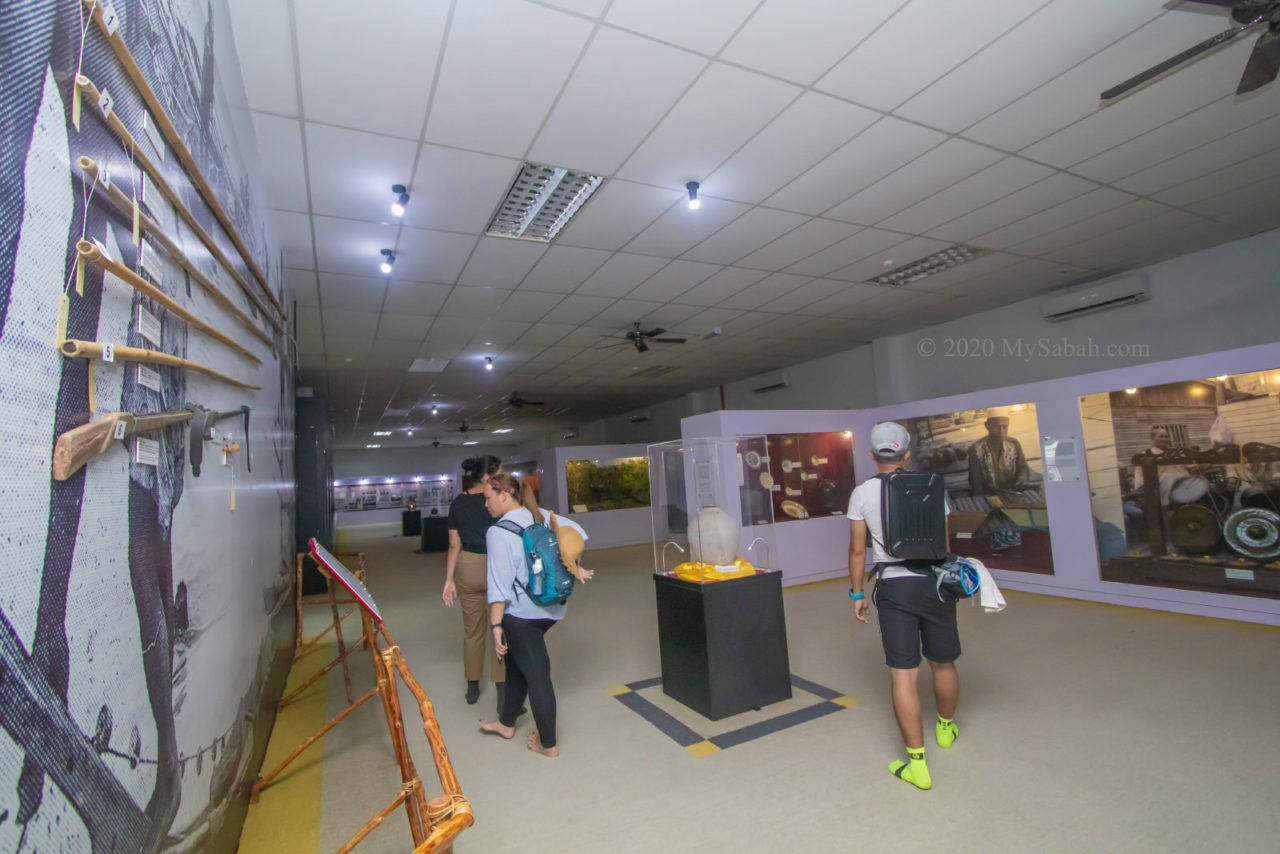 Exhibition on culture and historical artifacts of the Semporna community in top floor