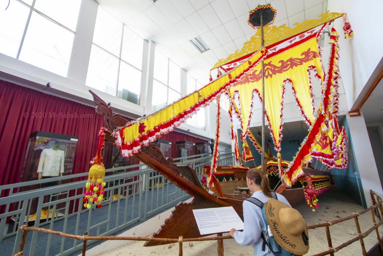 Traditional Lepa-Lepa boat of Sea Bajau in Semporna