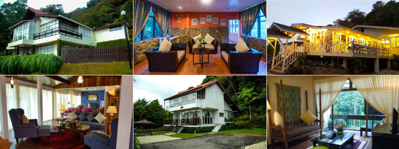 Variety of accommodation in Kinabalu Park